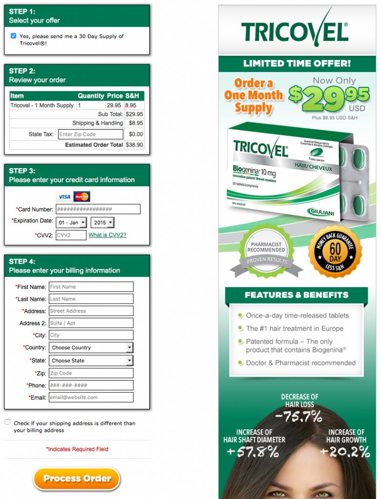 Tricovel Simple Ecommerce