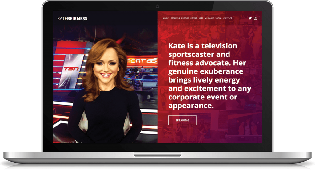 Landing Page Kate Beirness