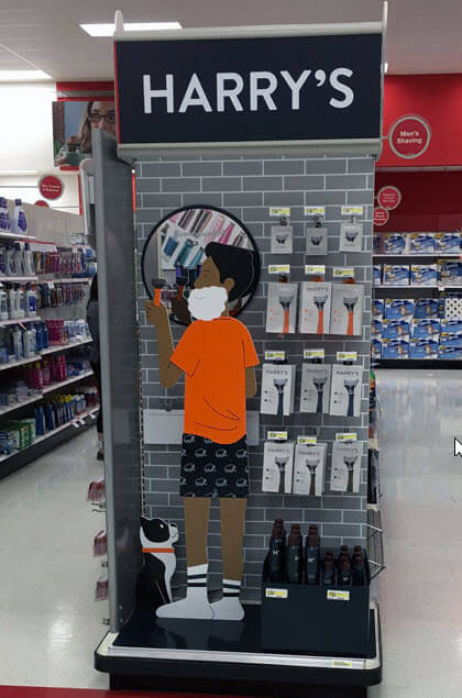 Innovative POP display, Harry's